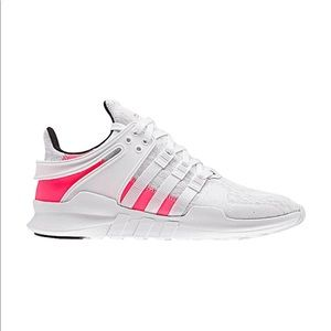 Adidas EQT Crystal White and Pink Sneakers